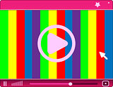 Media player interface art illustration