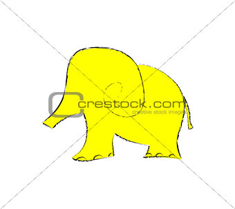 elephant art illustration cut  zoo animal