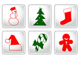 Buttons with Christmas elements
