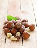 heap hazelnuts (filberts)