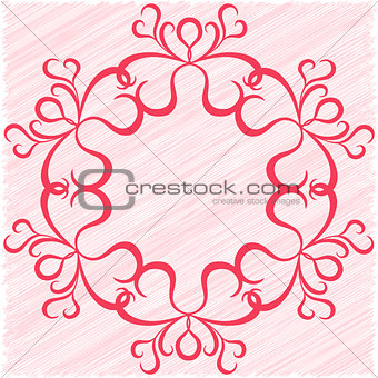 Circular vector ornament as a greeting card