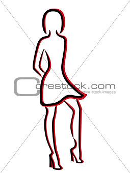 Attractive woman in a brief dress