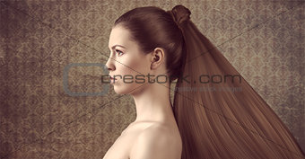 girl with creative hair