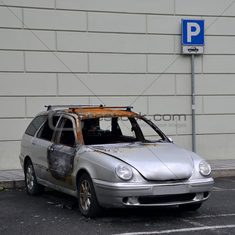 car burned