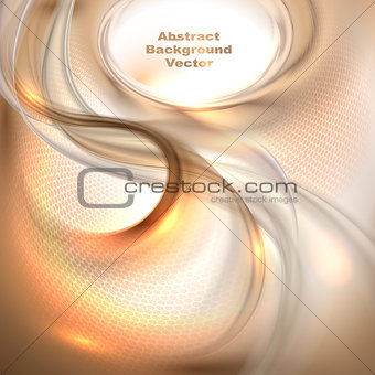 Abstract brown waving background
