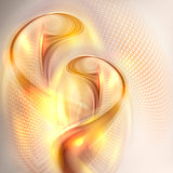 Abstract golden swirl background