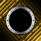 Metal Porthole on Grunge Background