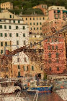 fishing net, Camogli in Liguria
