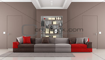 Contemporary brown livingroom