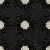 Grunge sunflower pattern