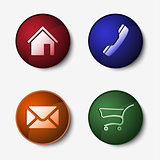 Color set of round web buttons