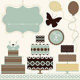 Vector set of holiday design elements