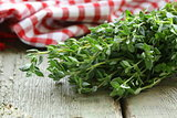 bunch of fresh green thyme