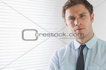 Close up portrait of an elegant businessman