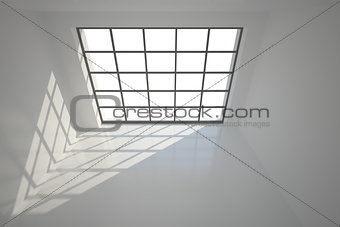 3D room with windows