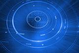 Futuristic blue interface