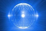 Futuristic glowing network