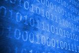Shiny futuristic binary code