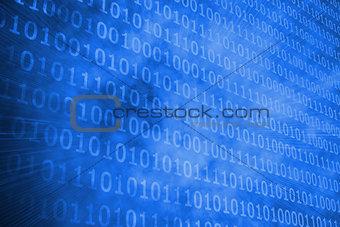 Glowing futuristic binary code