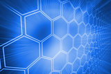 Background with shiny hexagons