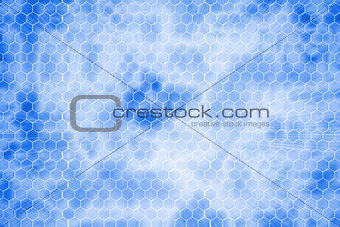 Background with white hexagons