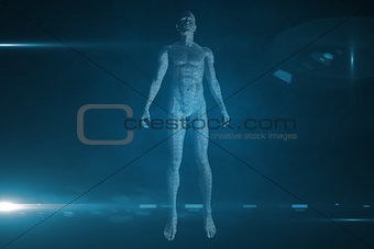 3D body on black background