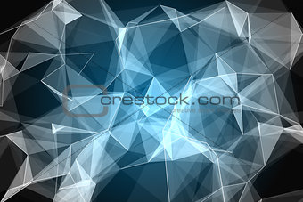 Abstract glowing black background