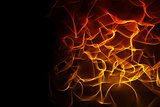 Abstract orange glowing black background
