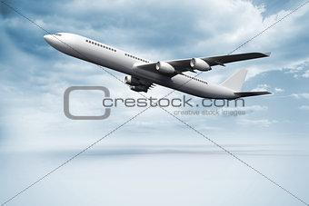 3D plane taking off