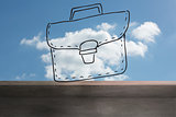 Bag drawn on sky