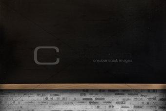 Blackboard on wall