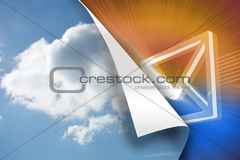 Sky background over bright envelope background