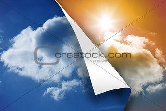 Blue sky background over sunny sky background