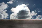 Balcony and cloudy sky