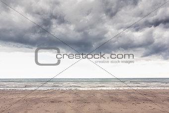 Cloudy landscape background