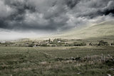 Stormy countryside background
