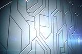 Circuit board on futuristic background