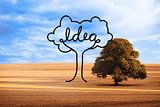 Idea tree over countryside