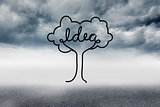 Idea tree graphic in sky