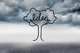 Idea tree graphic in sky