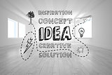 Idea graphic in bright room
