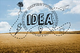 Idea graphic on countryside