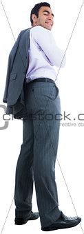 Smiling businessman standing