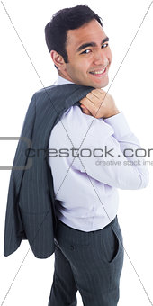 Smiling businessman standing