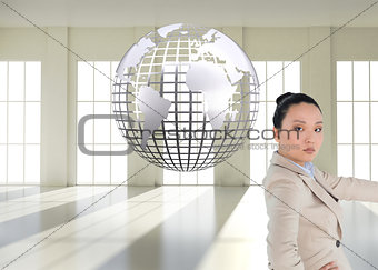 Composite image of asian businesswoman