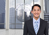 Composite image of asian businessman