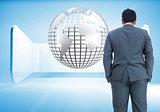 Composite image of businessman