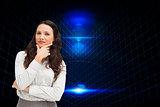 Composite image of businesswoman posing