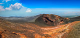 Panoramic landscape view of Etna volcano, Sicily