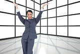 Composite image of businesswoman
